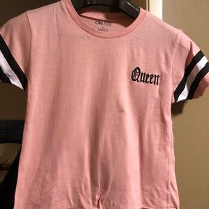 On Fire Peachy Pink Queen Shirt halter top Size L